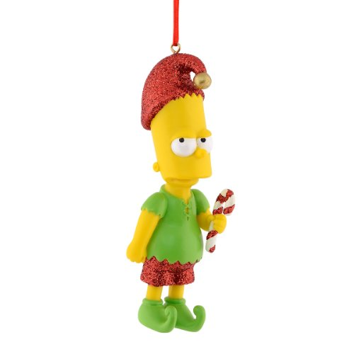 Department 56 Simpsons Giftware Bart Elf Ornament, 3.75-Inch