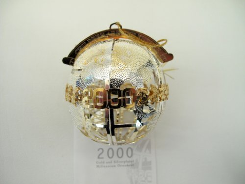 Wallace Silversmiths 2000 Gold and Silverplated Millennium Ornament