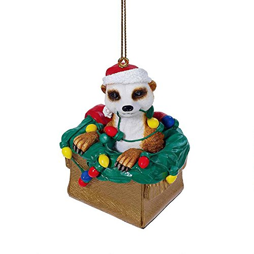 Design Toscano DB383085 Merry Meekat Holiday Ornament
