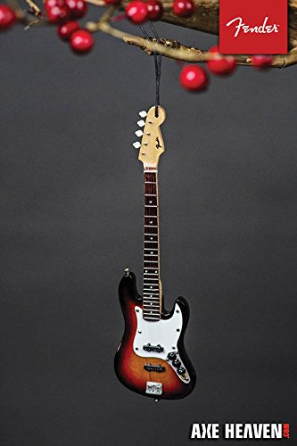 Axe Heaven FJ90060 Holiday Ornament, Fender 6 Jazz Bass Sunburst