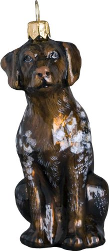 The Pet Set Blown Glass European Dog Ornament by Joy to the World Collectibles – German Shorthair Pointer Dog