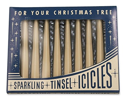 Bethany Lowe Christmas Blue Sparkle Icicle Ornaments Set of 9 Boxed LG9368