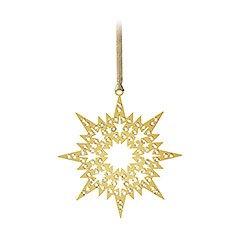 Swarovski Crystal Pixel Star Ornament – Gold #1135182