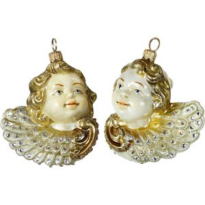 Jay Strongwater Pair of Cherubs Ornament