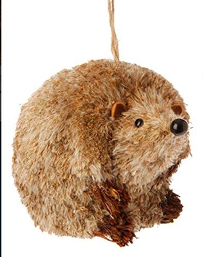 4.75″ Urban Nature Bristly Brown Hedgehog Plush Christmas Ornament