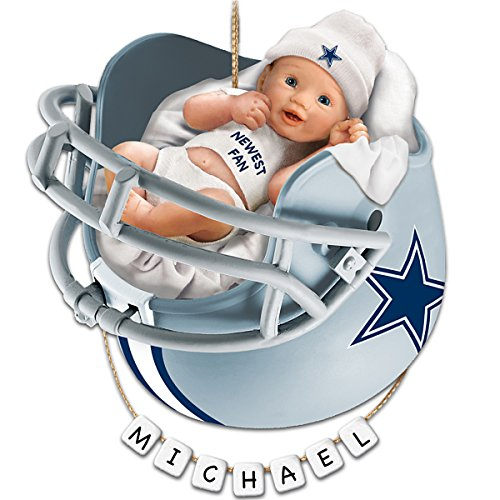 NFL Dallas Cowboys Personalized Baby's First Christmas Ornament by The Bradford Exchange