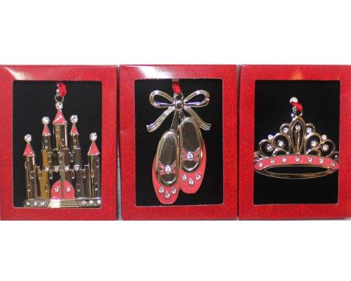 3 Piece Pink Princess Ornament Set