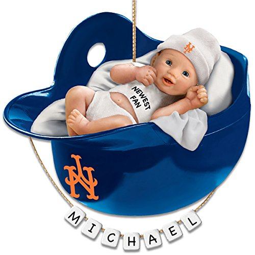 MLB New York Mets Personalized Baby's First Christmas Ornament by The Bradford Exchange