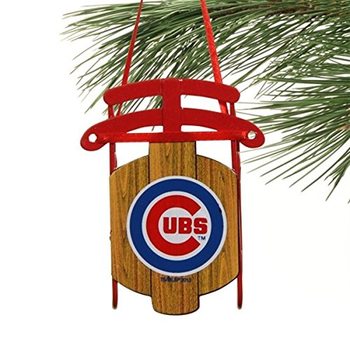 Chicago Cubs Official MLB 3.5 inch Metal Sled Christmas Ornament
