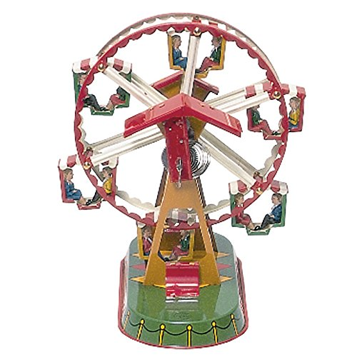 Alexander Taron German Collectible Tin Toy – Ferris Wheel – 8.75″H x 8.5″W x 7″D