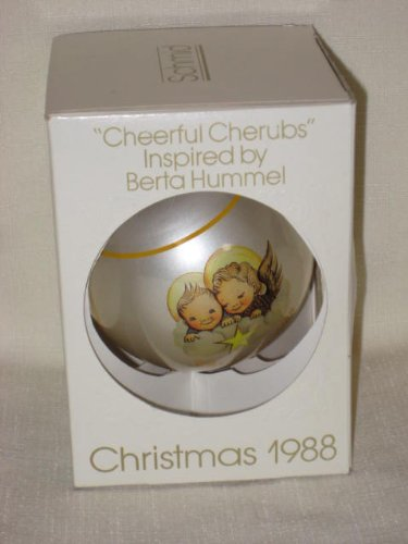 "1988 "" Cheerful Cherubs "" Christmas Ornament by Berta Hummel"