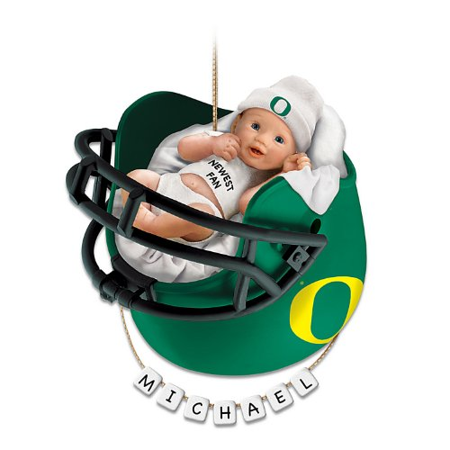 University of Oregon Ducks Football Personalized Baby's First Ornament by The Bradford Exchange