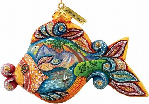 G.Debrekht 626161 General Holiday Paradise Fish Ornament 2.5 in.