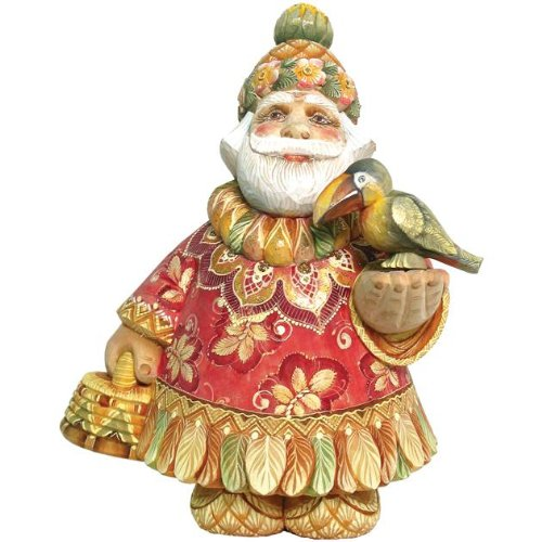 G. Debrekht Islander Sant a Figurine, Tropical Series, 6-Inch Tall, Limited Edition of 1,200, Hand-Painted