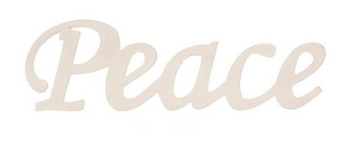 Darice 9110-22 Wood Script Word, Peace