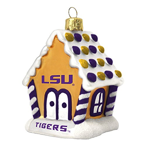 LSU Tigers Gingerbread House Ornament