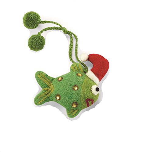 Mud Pie Holiday Sea Christmas Collection Felt Sea Ornament (Fish)