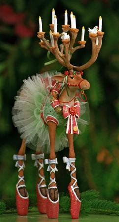 8″ Patience Brewster Krinkles Dashaway Dancer Reindeer Christmas Ornament