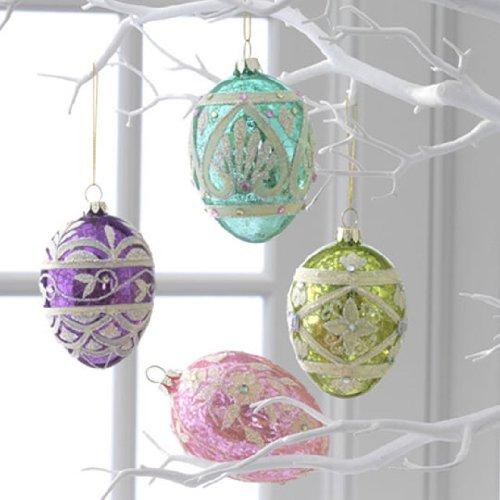 RAZ Imports – 4″ Mercury Glass Egg Ornaments