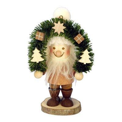"13-0707 – Christian Ulbricht Ornament – Santa with Arch-shaped Wreath – 4.5″""H x 2.5″""W x 2″""D"