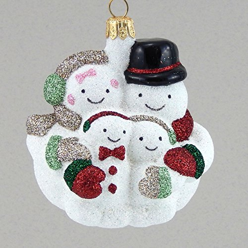 Mattarusky Family Gathering Glittered Glass Ornament