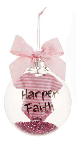 Mud Pie Crawler Ornament for Personalization, Pink