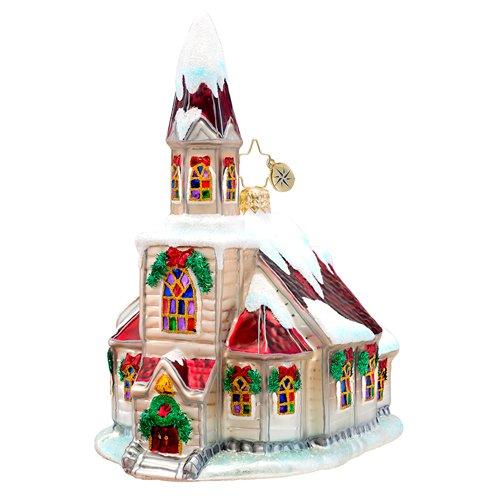 Christopher Radko Ruby Roof Chapel Ornament 2014
