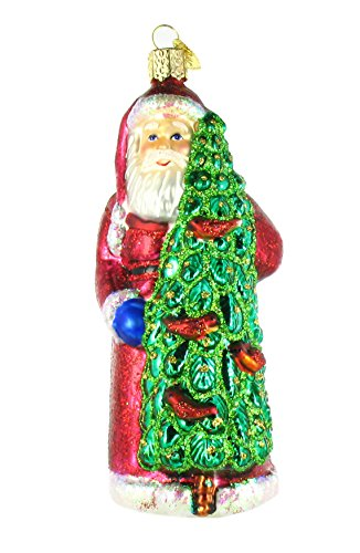 Santa with Calling Birds Ornament (6 in.)
