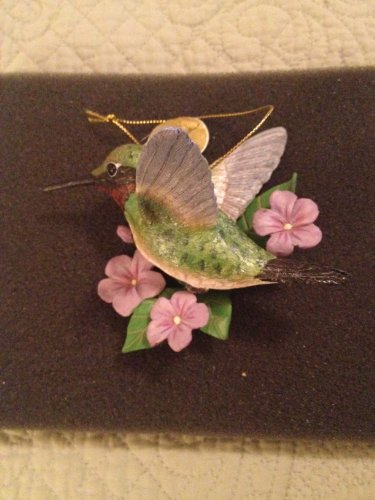 Danbury Mint Songbird Ornaments, Hummingbird and Dove