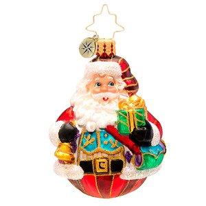 Christopher Radko Glass Vest of All Delivery Santa Claus Gem Christmas Ornament #1017211