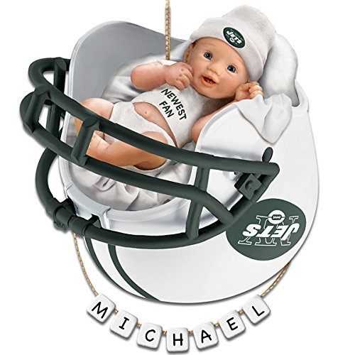 NFL New York Jets Personalized Baby's First Christmas Ornament by The Bradford Exchange