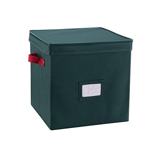 Elf Stor Premium Green Christmas Ornament Storage Chest for 64 Balls w/ Dividers