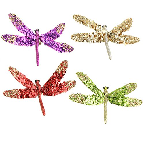 RAZ Imports – 6″ Clip-On Dragonfly Ornaments – Set of 4