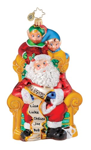 "Christopher Radko Christmas Ornament ""Peelkin' Pals""- 6.5″ Ornament"