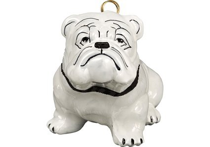 Hand-Painted Darling White Bull Dog Puppy Ornament