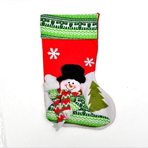 Happy Holiday Christmas Santa Socks Chiristmas Decorations Ornaments Costume Stocking(R2-6B)