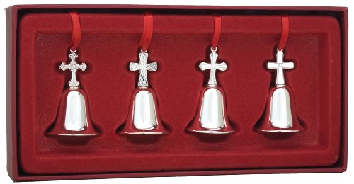 Reed & Barton Set of 4 Miniature Cross Bells