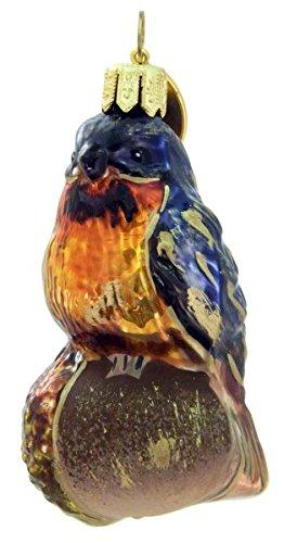 Blue Bird on an Acorn
