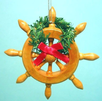 Ships Wheel Christmas Ornament