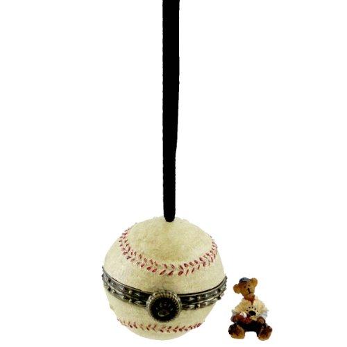 Boyds Bears Resin HEY BADDA BADDA HINGED BOX 257568 Baseball Ornament New