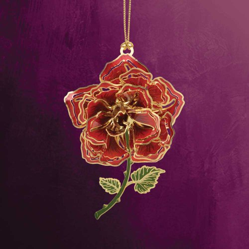 2015 Chemart Baptism Ornament: ChemArt 2.5″ Collectible Keepsakes Blooming Rose Christmas