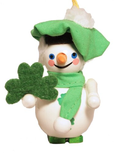 Steinbach Irish Snowman Wood German Christmas Ornament