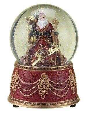 Roman Inc Red Velvet Santa Snow-Globe (34350)