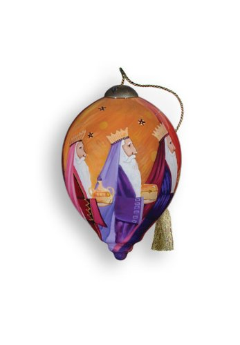 Ne'Qwa Art Believe – New for 2012 – Glass Ornament Hand-Painted Reverse Painting Distinctive 736-NEQ