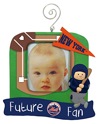 New York Mets Official MLB 5.25 inch x 5 inch x 2.5 inch Future Fan Photo Frame Christmas Ornament