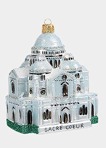 Sacre Coeur Church Paris France Polish Mouth Blown Glass Christmas Ornament