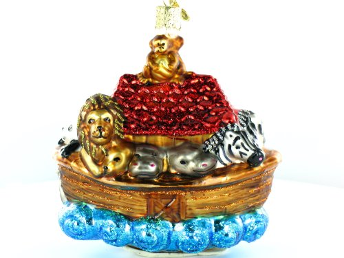 Old World Christmas Noah's Ark Glass Ornament