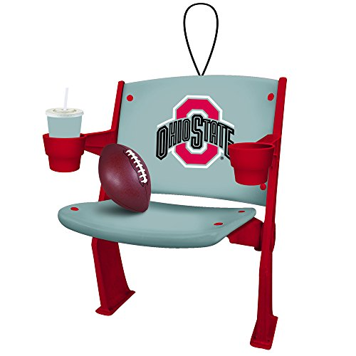 Ohio State Buckeyes Official NCAA 4 inch x 3 inch Stadium Seat Ornament