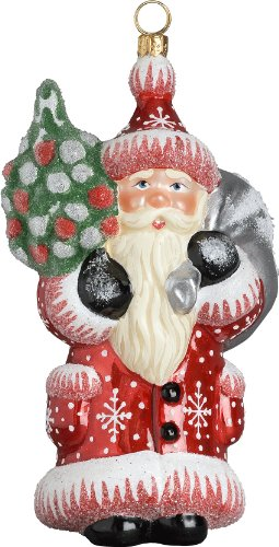 Ino Schaller Neudstat Santa Blown Glass Christmas Ornament by Joy To The World Collectibles