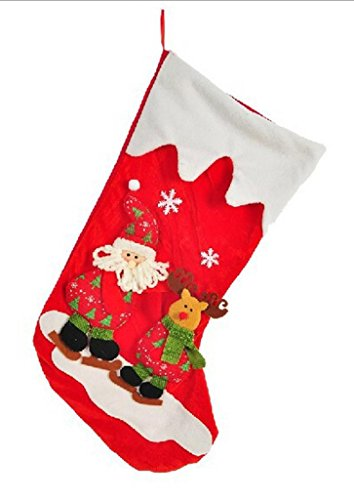 Happy Holiday Christmas Santa Socks Chiristmas Decorations Ornaments Costume Stocking(N2-4)